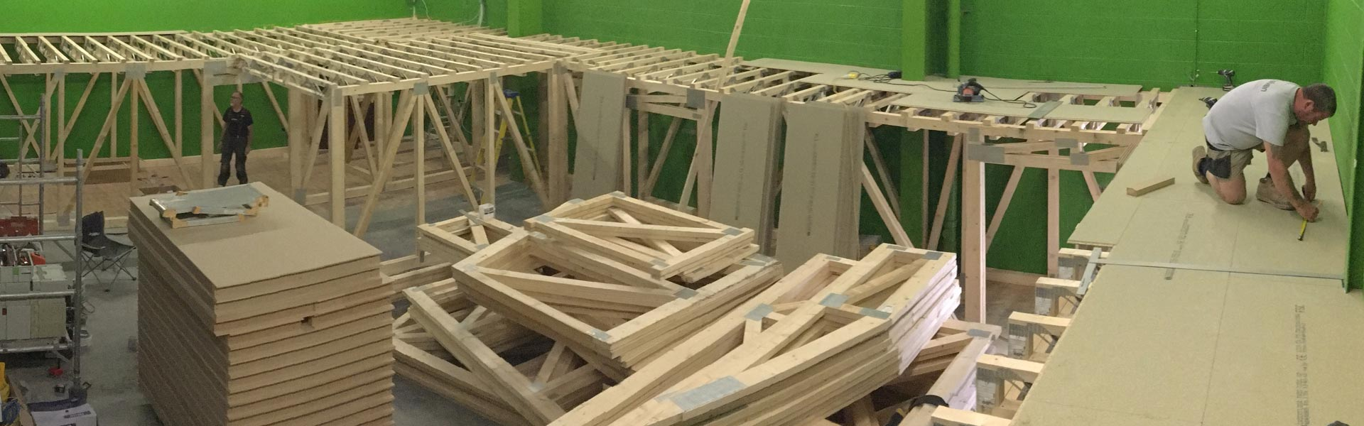 Roof Trusses for laser quest