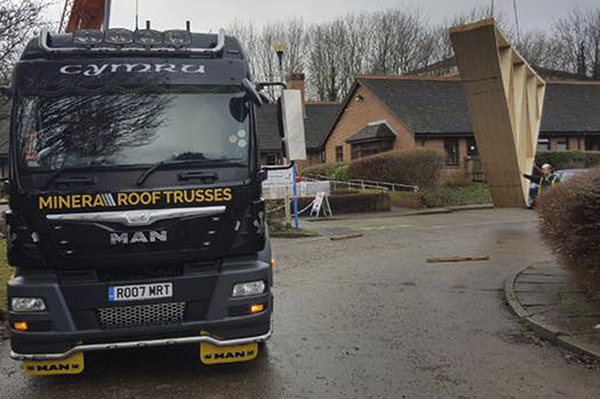 Roof Trusses Delivery