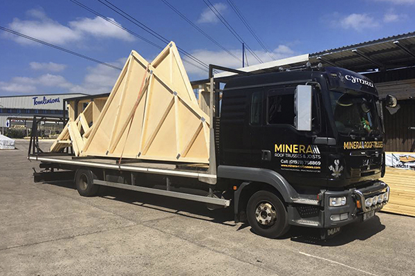Roof Truss Delivery