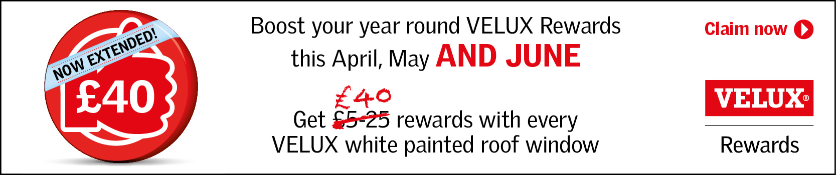 VELUX Rewards Banner