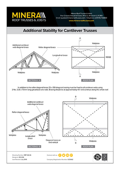 Additional Stability for Cantilever Trusses