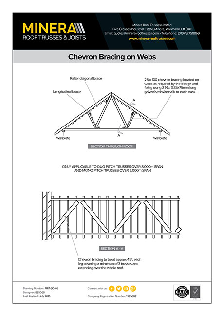 Chevron Bracing on Webs