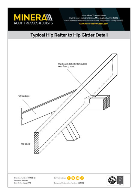 Typical Hip Rafter to Hip Girder Detail